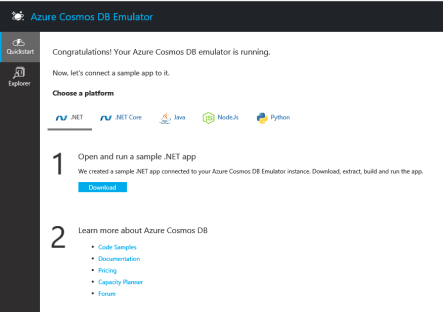CosmosDB Emulator