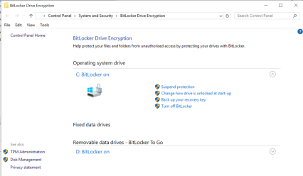 BitLocker Enabled